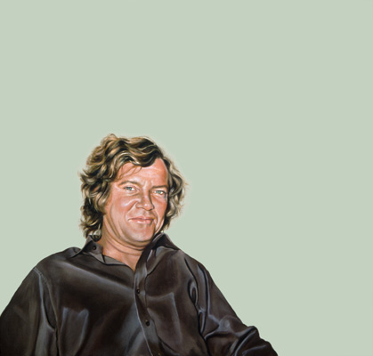 Sylvia Shap Realist Artist: Portrait of 'Robert Hughes' Time Magazine Art Critic