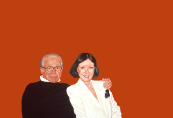 Sylvia Shap Realist Artist: Portrait of 'Billy and Audrey Wilder'