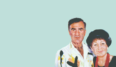 Sylvia Shap Realist Artist: Portrait of 'Shirley and Eddie Glass'