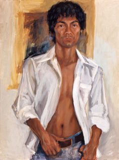 Sylvia Shap Realist Artist: Portrait of 'Peter Young'