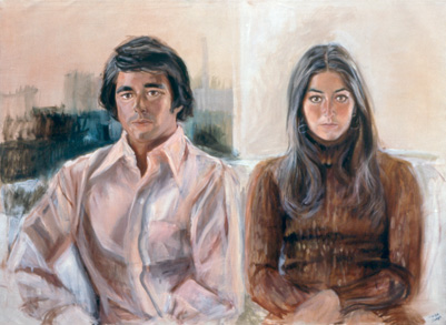 Sylvia Shap Realist Artist: Portrait of 'Wayne and Barbara Naphtal'